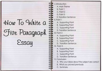 Five Paragraph Essay Tips